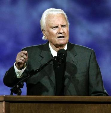 Evangelist Billy Graham, 93, was hospitalized Saturday. His infection is responding well to treatment, a doctor said.