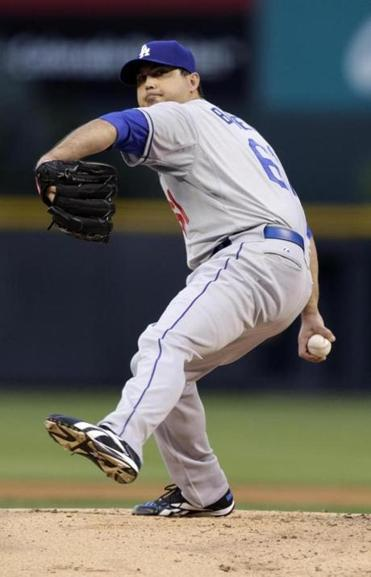 Josh Beckett debuted for the Dodgers on Monday.