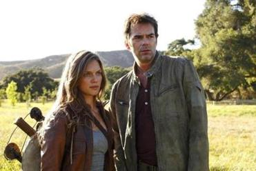 "Tracy Spiridakos as Charlie Matheson, left, and Billy Burke as Miles Matheson from ""Revolution."""