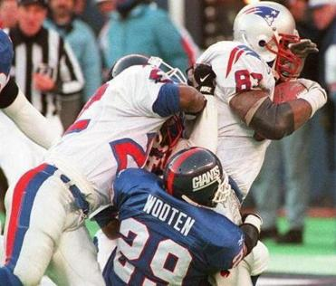 Ben Coates (1991-99), who was difficult to bring down at times, went to five straight Pro Bowls from 1994-1998.