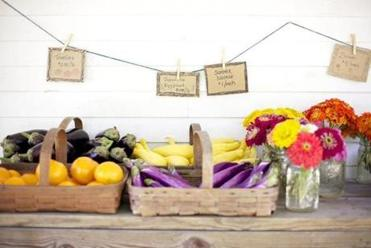 Tomatoes, eggplant, summer squash and a variety of flowers were for sale at the McGrath Farmstand in Concord.