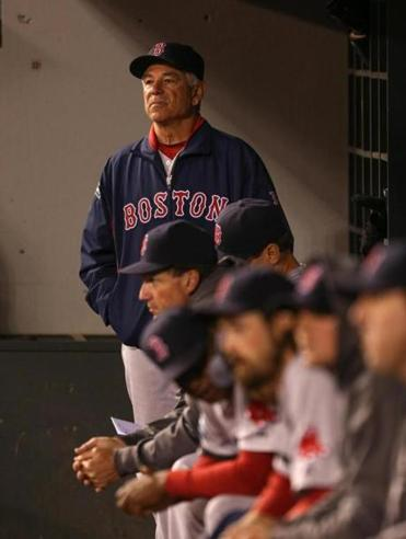 Bobby Valentine watched the Red Sox finish 1-8 on their road trip on Wednesday.
