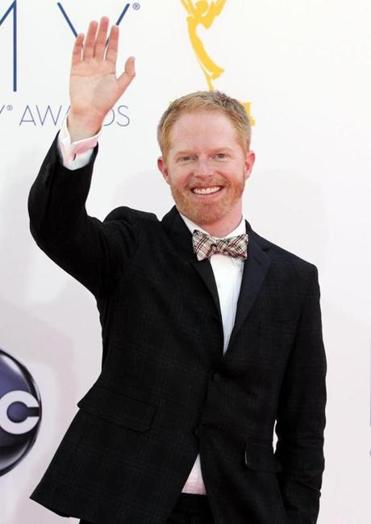 Jesse Tyler Ferguson arrived at the 64th Primetime Emmy Awards at the Nokia Theatre on Sunday.