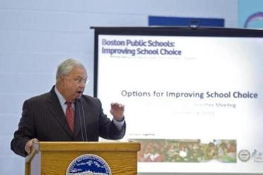 Mayor Thomas M. Menino wanted students from the same neighborhoods to be able to study together.
