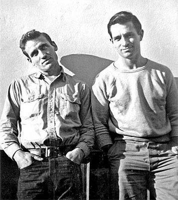"Kerouac (right) with Cassady. The play ""Beat Generation"" is Kerouac's take on their life in the 1950s."