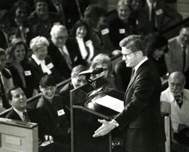 Silber announced his candidacy for governor of Massachusetts on Feb. 11, 1990.