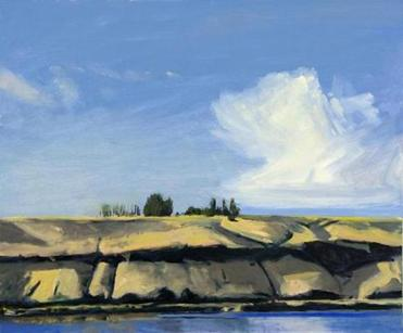 "Wellesley painter Roy Perkinson's ""Columbia River, Late Afternoon.''"