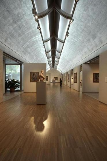 Louis Kahn designed the Kimbell Art Museum in Fort Worth; it opened in 1972.