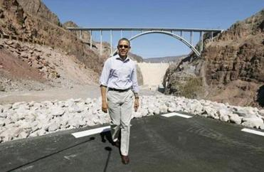 President Obama visited the Hoover Dam in Boulder City, Nev., on Tuesday. During preparations for the presidential debate, advisers are urging him not to be long-winded.