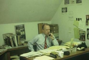 Peter Timm in his old office in the late 70's or early 80's.