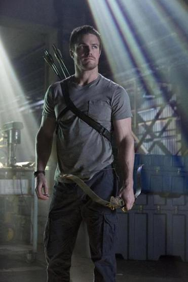 Stephen Amell stars as the superhero Arrow in the new CW drama.