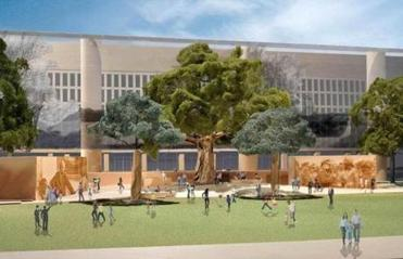 The Eisenhower memorial is planned for a four-acre site just off the National Mall.