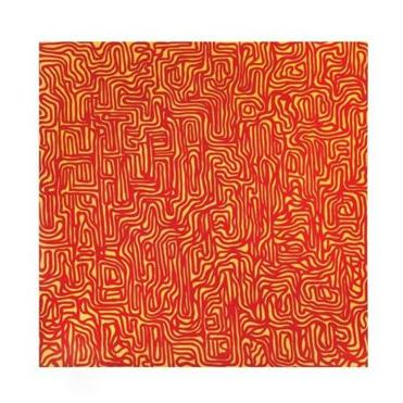 "Sol LeWitt's ""Irregular Grid"" (1999), a gouache on paper in the Williams College Museum of Art show."