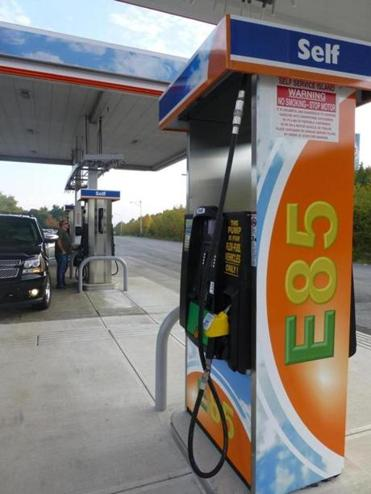 The Westborough service plaza on the Mass. Turnpike now includes pumps that dispense the E85 fuel.