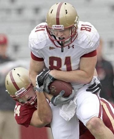 BC tight end Chris Pantale is expected to play Saturday after missing six weeks.