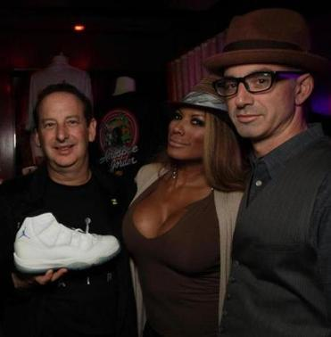 From far left: Rick Kosow, Traci Bingham, and Devin Hill.