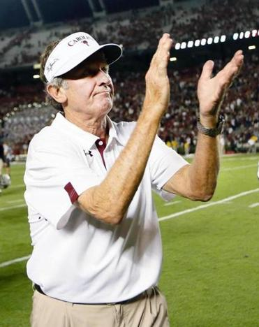 Two of the most colorful leaders, South Carolina's Steve Spurrier (left) and LSU's Les Miles, will match wits Saturday.