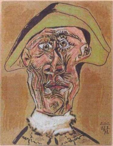 """Harlequin Head,'' by Pablo Picasso, was among the paintings stolen Tuesday from a Rotterdam museum."