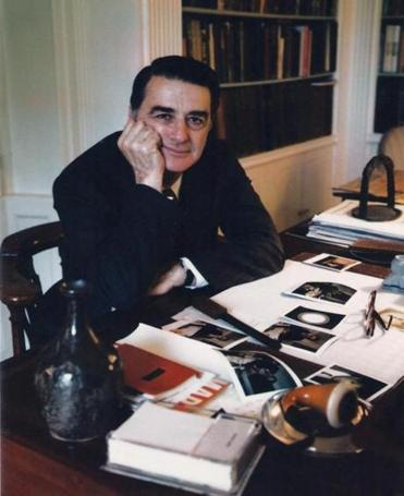 Polaroid's Edwin Land in his Cambridge home.