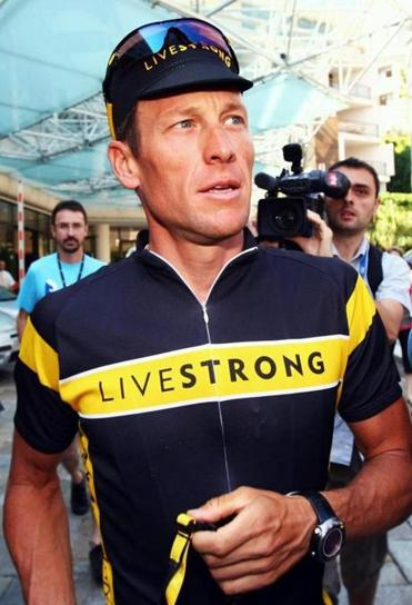 Lance Armstrong, shown in 2009, is stepping down as chairman of the Livestrong charity.