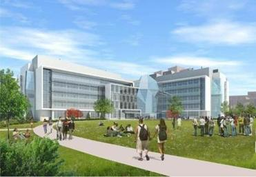 The UMass Boston science building is shown in thie artist's rendering.