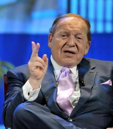 Sheldon Adelson is the CEO of Las Vegas Sands.