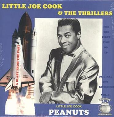 "Album cover for a reissue of Little Joe Cook & The Thrillers' 1957 hit, ""Peanuts."""