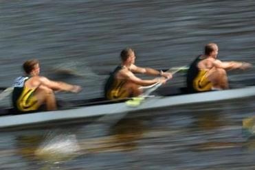 Cambridge--10/20/12- During the annual Head of the Charles Regatta , rowers from the College of William and Mary in Williamsburg Virginia are in motion in the club men's fours. Boston Globe staff photo by John Tlumacki(sports)