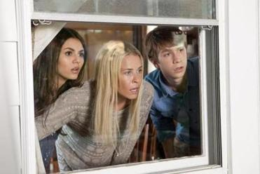 "(Left to right) Victoria Justice as Wren, Chelsea Handler as Joy and Thomas Mann as Roosevelt in ""Fun Size."""