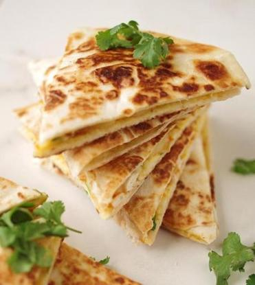 Squash and white bean quesadillas.