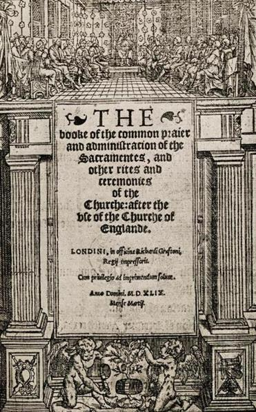 The title page to the first edition of The Book of Common Prayer, published in 1549.