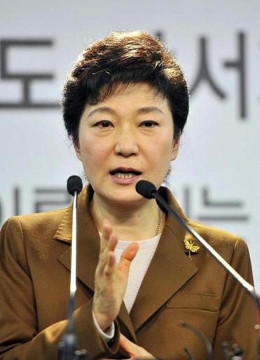 Park Geun Hye said she would reverse the hardline stance of South Korea's current president, Lee Myung Bak.