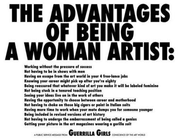 A Guerrilla Girls poster from the era.