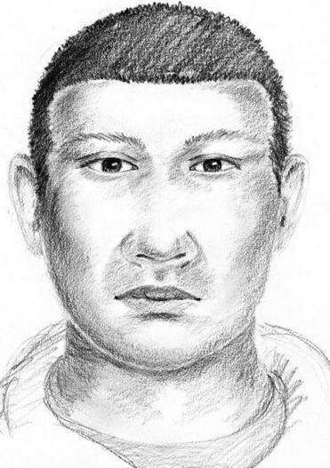 Sketch of suspect released by Boston Police.