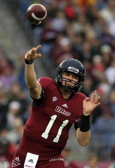 Mike Wegzyn does not have a touchdown pass in the last four games for UMass.