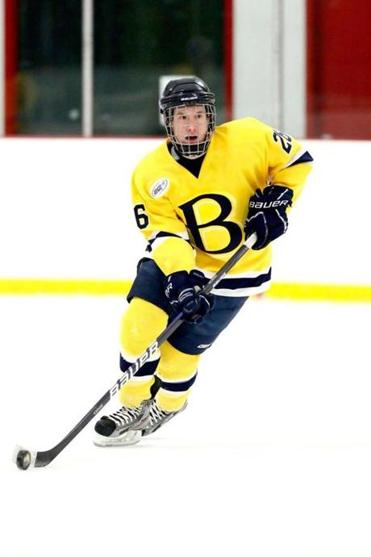 Bentley's Brett Gensler has picked up where he left off last year, leading his team with eight goals in nine games.