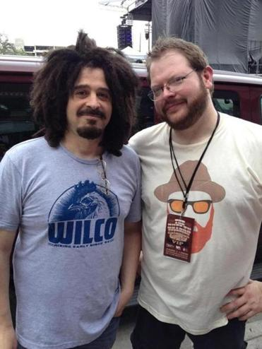 Spaulding with Counting Crows frontman Adam Duritz in March at the South by Southwest music festival in Austin, Texas.