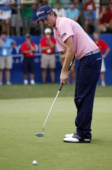 Webb Simpson, who won the 2012 US Open, uses a long putter.