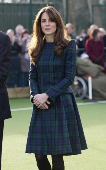 The Duchess of Cambridge last week in Pang-bourne, England.