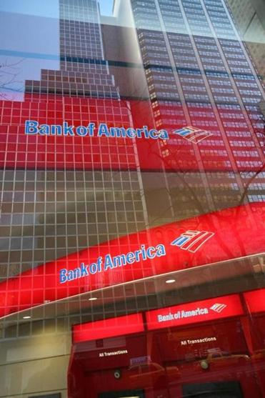 A Bank of America branch office in New York.