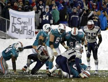 The Patriots sacked Jay Fielder in the end zone to ice the game in the fourth quarter.