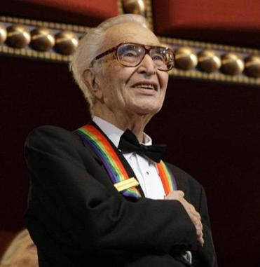 Dave Brubeck stood for the National Anthem at the Kennedy Center Honors gala in Washington in 2009.