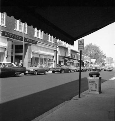 Buttner's, a department store on Main Street, in the 1970s.