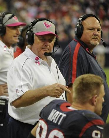 Coordinator Wade Phillips has turned around a Texans defense that ranked 30th in 2010.