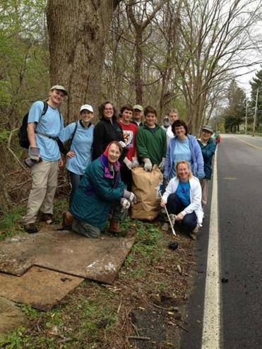 Wildlands Trust volunteers gathered to clean up the Brockton Audubon Preserve last spring.