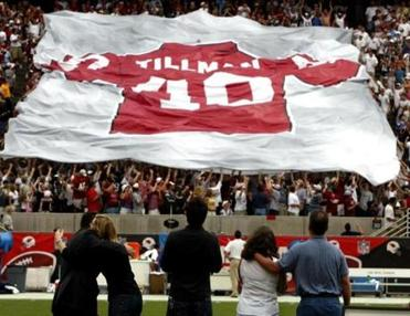 The Cardinals honored the late Pat Tillman by retiring his jersey at halftime.