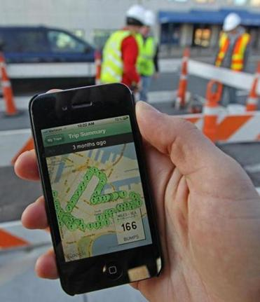 City workers using smartphones have begun identifying problem castings in the roads, and one utility, NStar, has crews working on the problem.