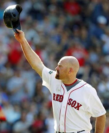 Kevin Youkilis played eight seasons for the Red Sox.