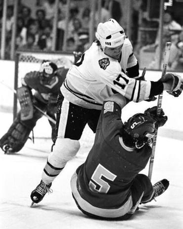 "Stan Jonathan's bruising style made him a fan favorite, and he epitomized the hard-hat style of the ""Lunch Pail'' Bruins of the '70s."