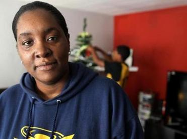 Rashita Clark and her family were once homeless. They are now living in Malden.